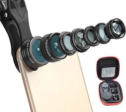 Kit objectif pour t/él/éphone portable avec appareil photo objectif universel 10 en 1 pour t/él/éphone portable Angle macro filtre multifonctions Fisheye Wide