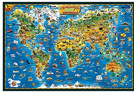 Amazon coeus wooden puzzles a series of world geography a coeus wooden puzzles a series of world geography a world mapeducational games gumiabroncs Gallery