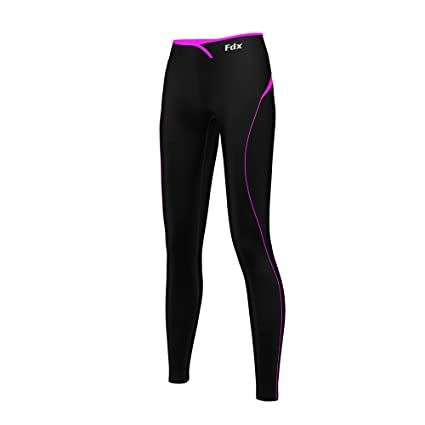b7a5fe3625f4a FDX Women's Super Thermal Base Layer Compression Leggings Fitness Running  Tights Gym Pants Black/Pink