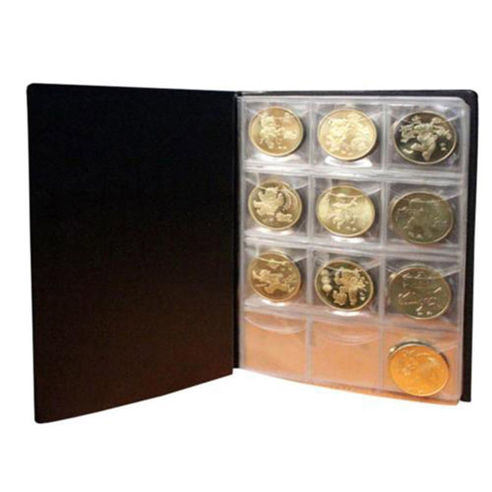 Creative 10 Pages 120 Coin Collection Holder Pocket Money Tokens Storage Album Book 856store
