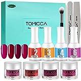 TOMICCA Acrylic Powder Nail Dipping Powder Kit Nails Starter Kit, 4 Colours