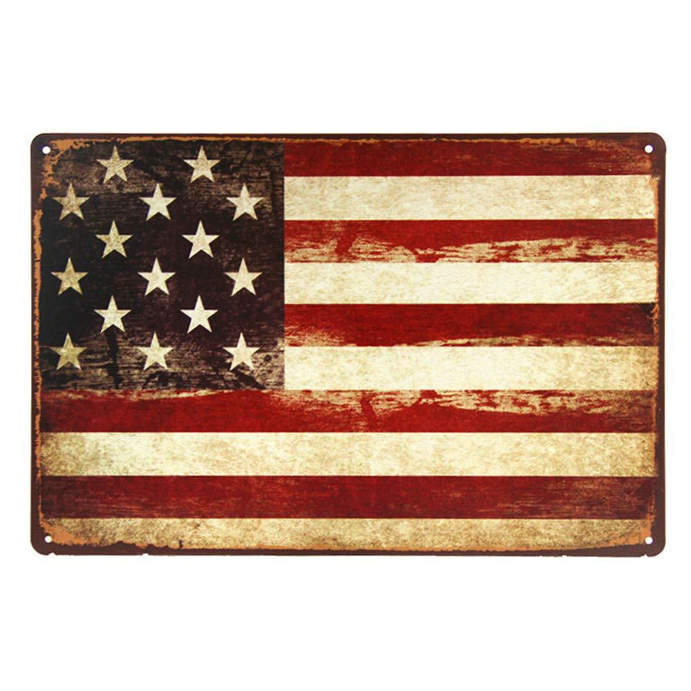 Item Size: 20x30cm 8x12 inch 01 Yunuo Plaque dimmatriculation USA en m/étal Signe de Bourbon Vintage Signe de Garage pour Homme caf/é Art Shabby Chic