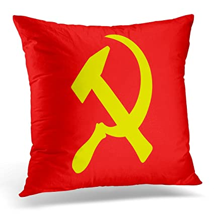 Amazon Golee Throw Pillow Cover Hammer And Sickle Symbol Of