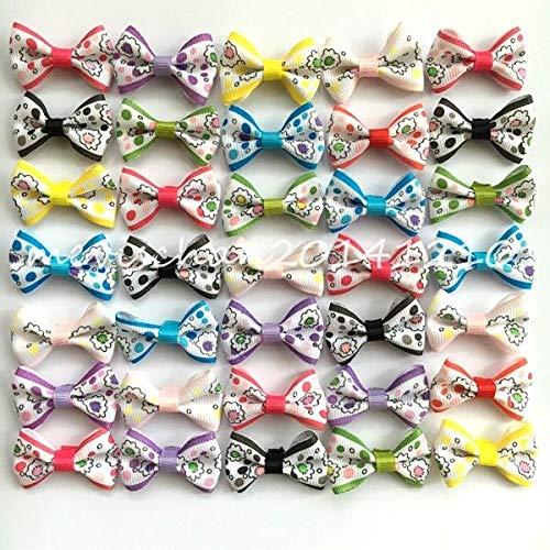 FidgetGear Handmade Pet Hairpins Puppy Hair Clips Dogs cat Bow Ribbon Rubber Band 10-500pcs by FidgetGear
