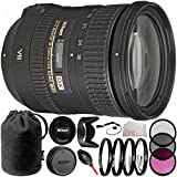 Nikon AF-S DX NIKKOR 18-200mm f/3.5-5.6G ED VR II Lens Bundle with Manufacturer Accessories & Accessory Kit (13 Items) - International Version (No Warranty)