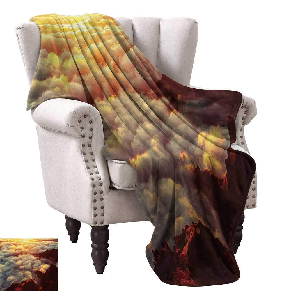 Amazon.com: Throw Blanket,Dawn Time Rising Sun at Asian ...