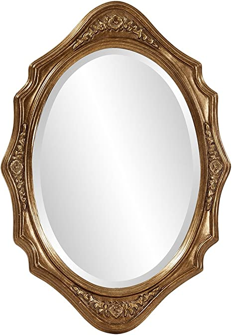 Amazon Com Howard Elliott 4052 Trafalgar Oval Mirror 19 X 27 Inch Virginia Gold Leaf Home Kitchen