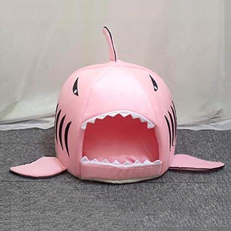 LFFK Cama para Gatos Cuatro Estaciones Nido de Tiburones en General Red cálida de Invierno casa