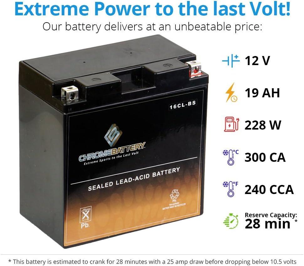 YB16CL-B 12V 240CCA AGM Replacement Battery
