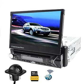 Single DIN coche estéreo GPS navegación receptor de medios digitales con Bluetooth coche reproductor de DVD