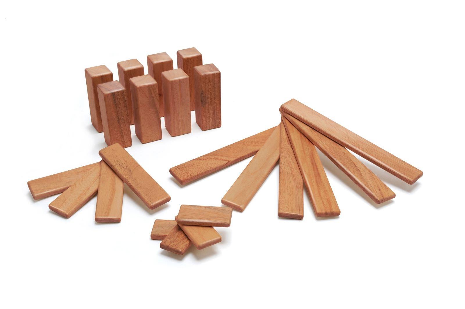 Tegu 22 Piece Endeavor Magnetic Wooden Block Set, Mahogany