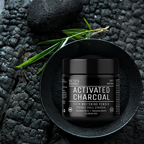 Activated Charcoal Natural Teeth Whitening Powder by Pro Teeth Whitening Co Grey Charcoal (non abrasive and proven safe for enamel) From Coconut Shells | Manufactured in England by Pro Teeth Whitening Co (Image #4)