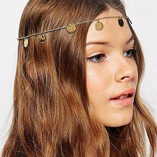 A&c 2016 Bohemia Alloy Coin Headband for Women, Fashion Headpieces for Girls. ()
