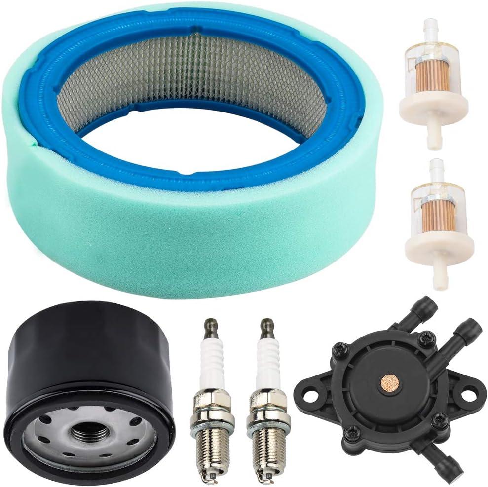 Kizut 394018S 272490S Air Filter 492932S Oil Filter for 392642 394018 271271 272490 Vanguard V-Twin 12.5-20hp Engine w 808656 Fuel Pump 691035 Fuel Filter 491055 Spark Plug