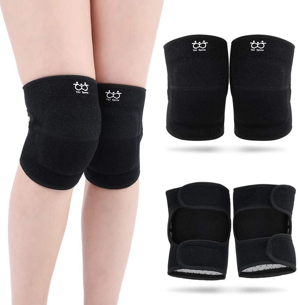 ciclismo Ginocchiere a compressione antiscivolo XXS-L donne basket protezione al ginocchio calcio protezione solare bambini per uomini COOLOMG 1 paio