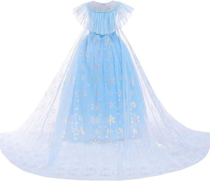 Vestido de princesa Elsa Aurora Cenicienta con perlas para Halloween: Amazon.es: Ropa y accesorios