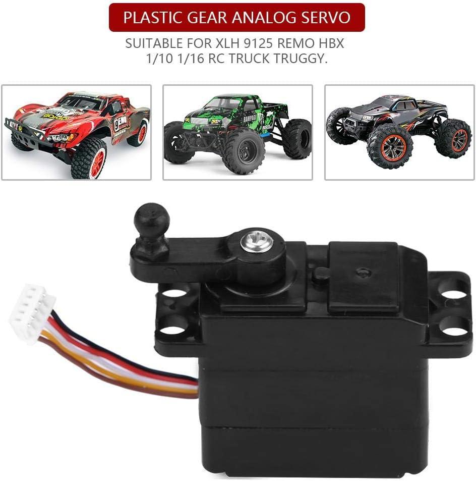 5-Wire Steering Analog Servo Plastic Gear for XLH 9125 REMO HBX 1//10 1//16 RC Truck Truggy Car RC Car Servo
