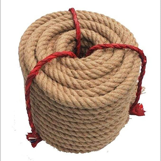 46mm natural JUTE ROPE twisted cord garden decking boating impregnated strong