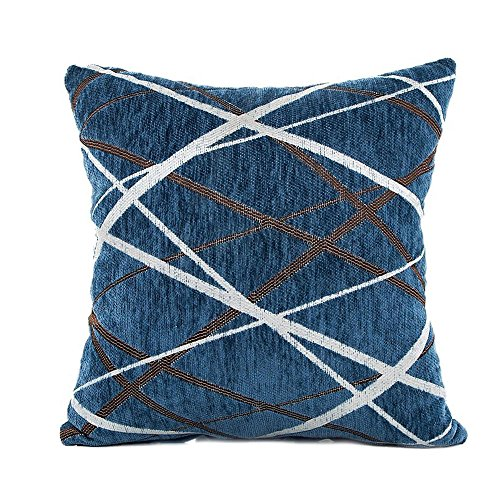 iYBUIA Simple Line Stylish Simplicity Polyester Cushion Cover Sofa Throw Pillow Case Home Decor