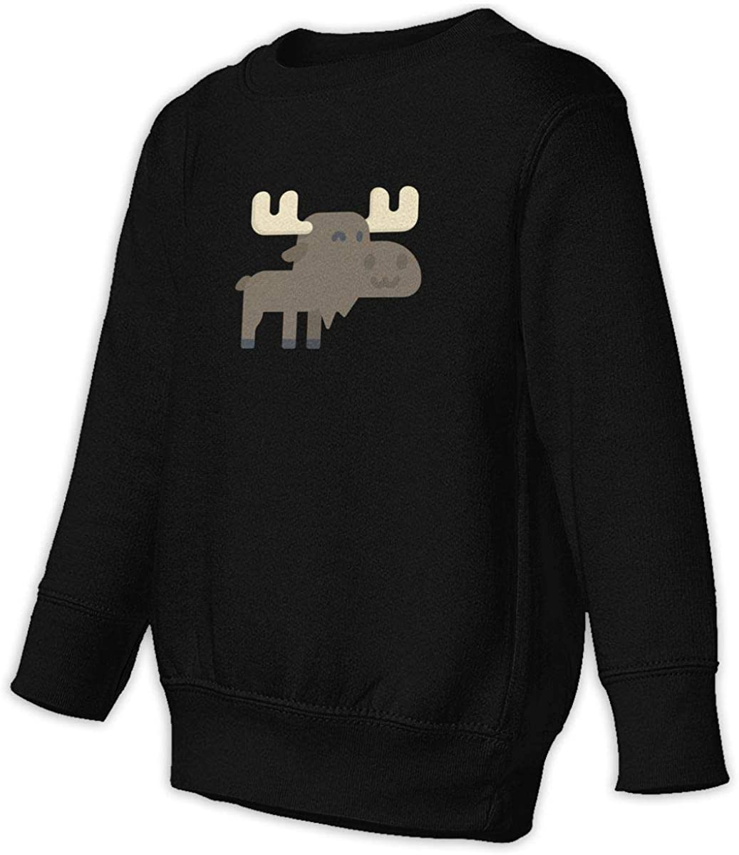 Fleece Pull Over Sweatshirt for Boys Girls Kids Youth Moose Unisex Toddler Hoodies
