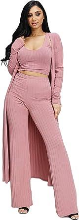 Amazon Com Conjunto De Ropa De Lona Para Mujer Conjunto De 2 Piezas De Ropa Casual De Verano Y Pantalones De Cintura Alta Moderno Equipada L Clothing