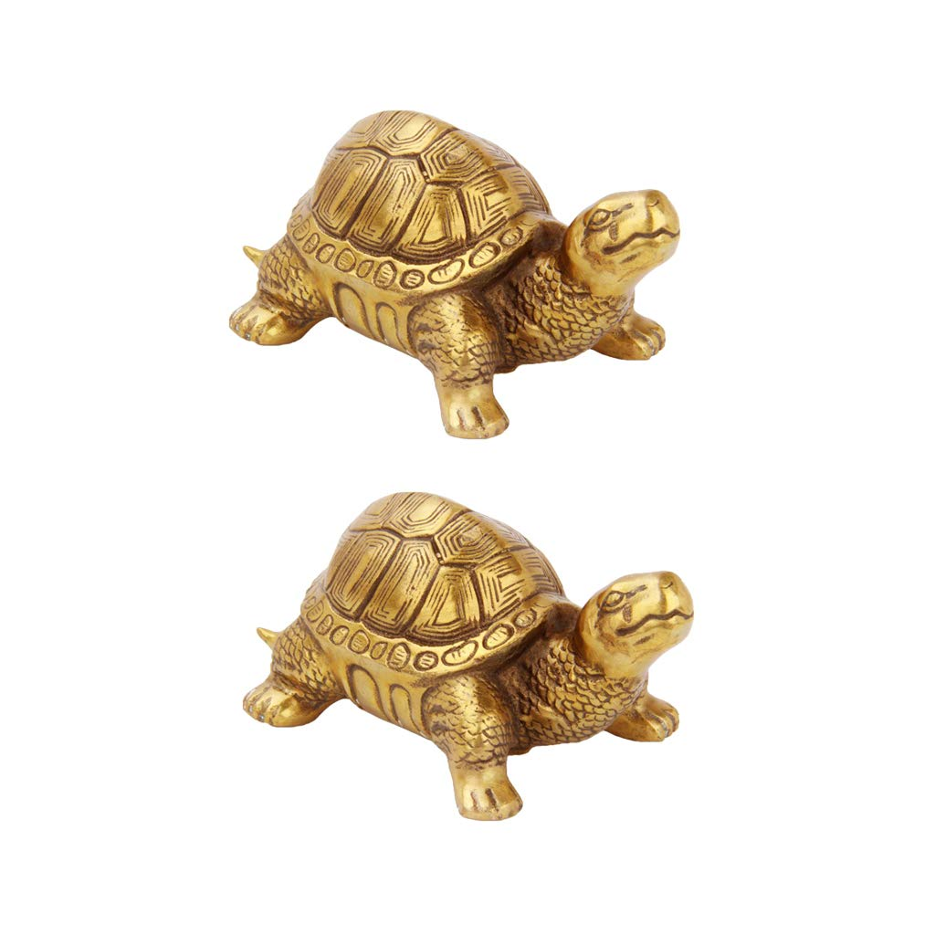 Gold Lucky Money Turtle Tortoise Coins Money Attaching Figurines Ornament S
