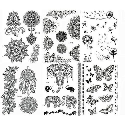Black Henna Tattoo Designs: Black Henna Tattoo: Amazon.com