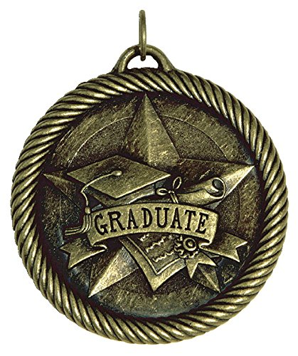Hammond & Stephens Multi-Level Dovetail/Graduate Value Medal, 2 in, Solid Die Cast, Bronze