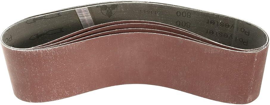 uxcell 4-Inch x 36-Inch 120 Grit Lapped Joint Aluminum Oxide Sanding Belt 6pcs