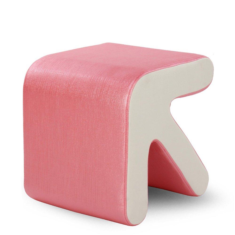 ソリッドウッドアローソファトライシューズスツール ( 色 : ピンク ぴんく ) B07BQRLWCS ピンク ぴんく ピンク ぴんく