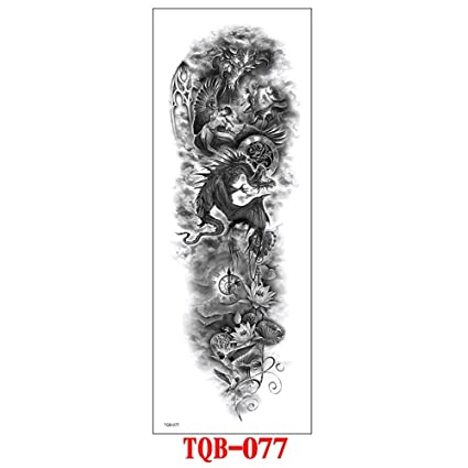 ZHAOSN Etiqueta engomada del tatuaje Pulsera Impermeable Tatuaje ...