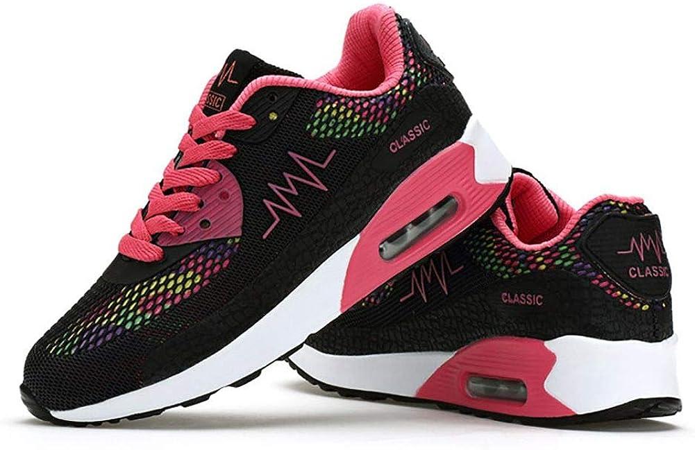 No. 66 TOWN Zapatillas de Tenis Deportivas para Mujer, Informales, para Caminar, Correr, Tenis, Amarillo (#952 Black), 36.5 EU: Amazon.es: Zapatos y complementos
