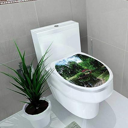 Amazon.com: Home Decoration Jardin japonais à Memphis Toilet ...