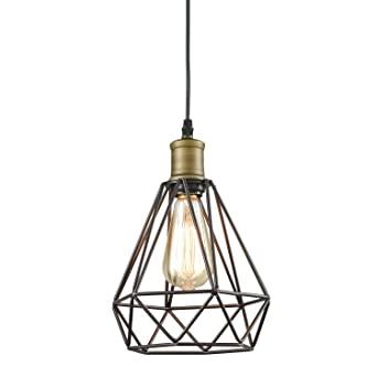 Yobo lighting vintage oil rubbed bronze polygon wire pendant light yobo lighting vintage oil rubbed bronze polygon wire pendant light art deco aloadofball Gallery