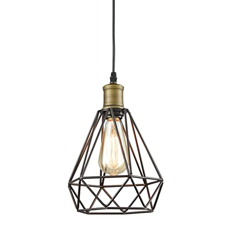 Yobo lighting vintage oil rubbed bronze polygon wire pendant light yobo lighting vintage oil rubbed bronze polygon wire pendant light art deco aloadofball