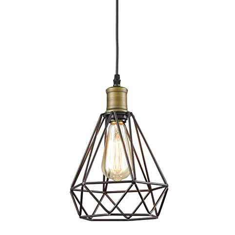 Yobo lighting vintage oil rubbed bronze polygon wire pendant light yobo lighting vintage oil rubbed bronze polygon wire pendant light art deco greentooth Image collections