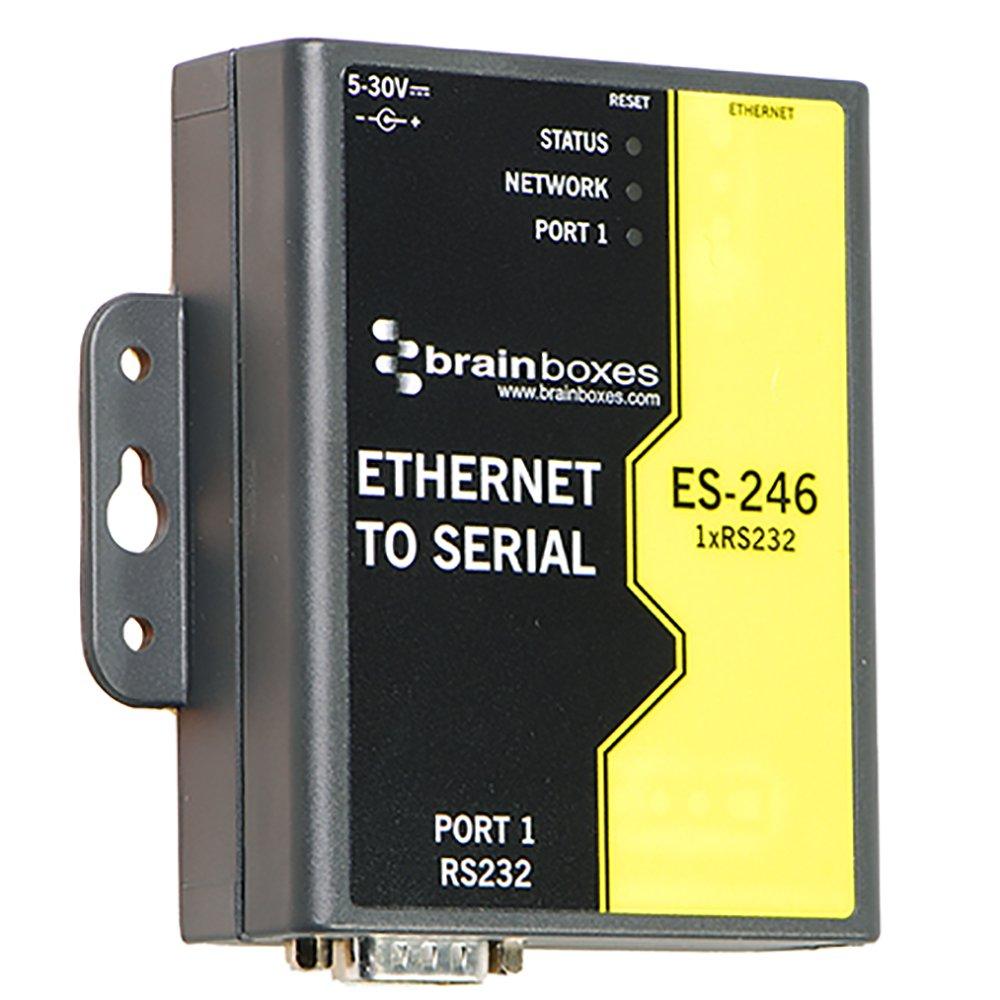 Brainboxes Device Server - 10Mb LAN, 100Mb LAN, RS-232 (ES-246) by Brainboxes