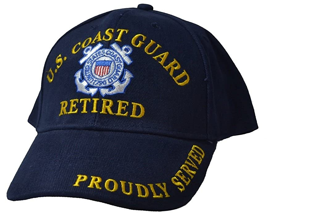 U.S. Coast Guard Retired Hat Cap Blue