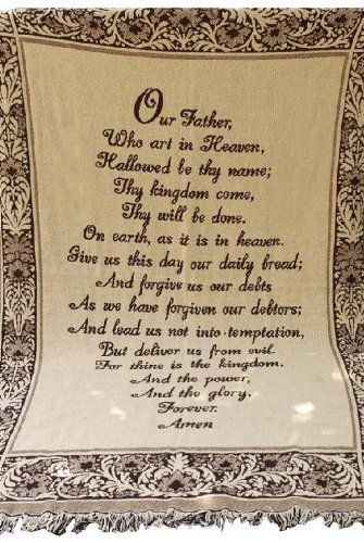 Manual 46 X 60-Inch Throw. Our Father/Lord's Prayer
