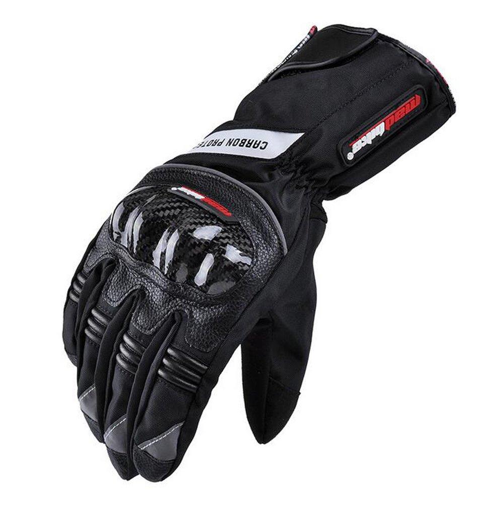 Men 's Bomber Gloveスーパー通気性サイクリング手袋防水レーシング手袋防風乗馬手袋 X-Large ブラック MA-003 B0759T7JQR  ブラック X-Large