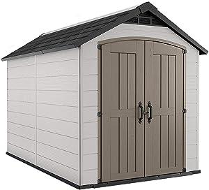 Montfort 7.5' x 11' Resin Outdoor Storage Shed Container Box Patio Garden