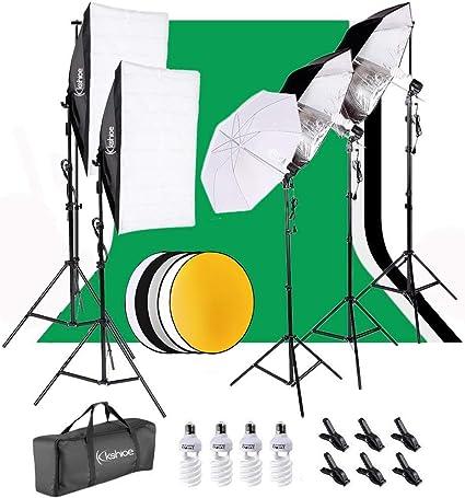 CanadianStudio Studio Photo photography 2x 43 Black//Silver reflective umbrellas for photo studio video photography