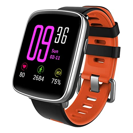 YAMAY Smartwatch Fitness Tracker Android iOS Impermeabile IP68 Uomo Donna  Bambini Smart Watch Orologio Cardiofrequenzimetro da