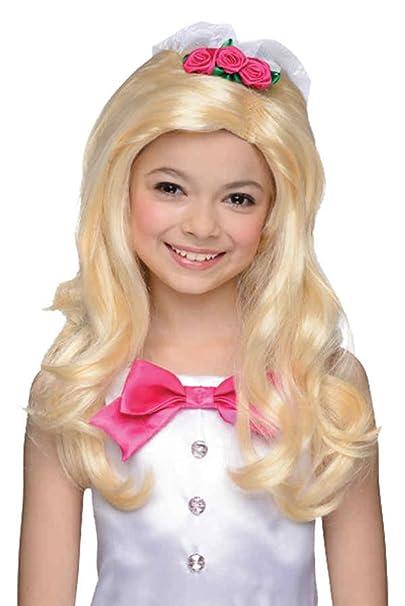 Barbie Halloween Costume Kids.Amazon Com Uhc Girls Barbie Doll Bridal Kids Halloween Costume