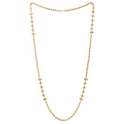 ecd61618160c2 Buy Shreyadzines Gold Plated Metal Long Necklace/Chain for Women ...