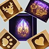 ENHONG Home Decor Bedside Lamps Night Lights for Adults Teens Kids,Wood Led Baby Nursery Night Light With USB Plug-Bear Claw