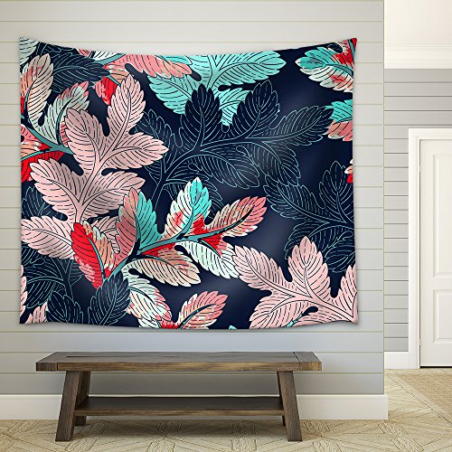Seamless Background Leaves Pattern Fabric Wall