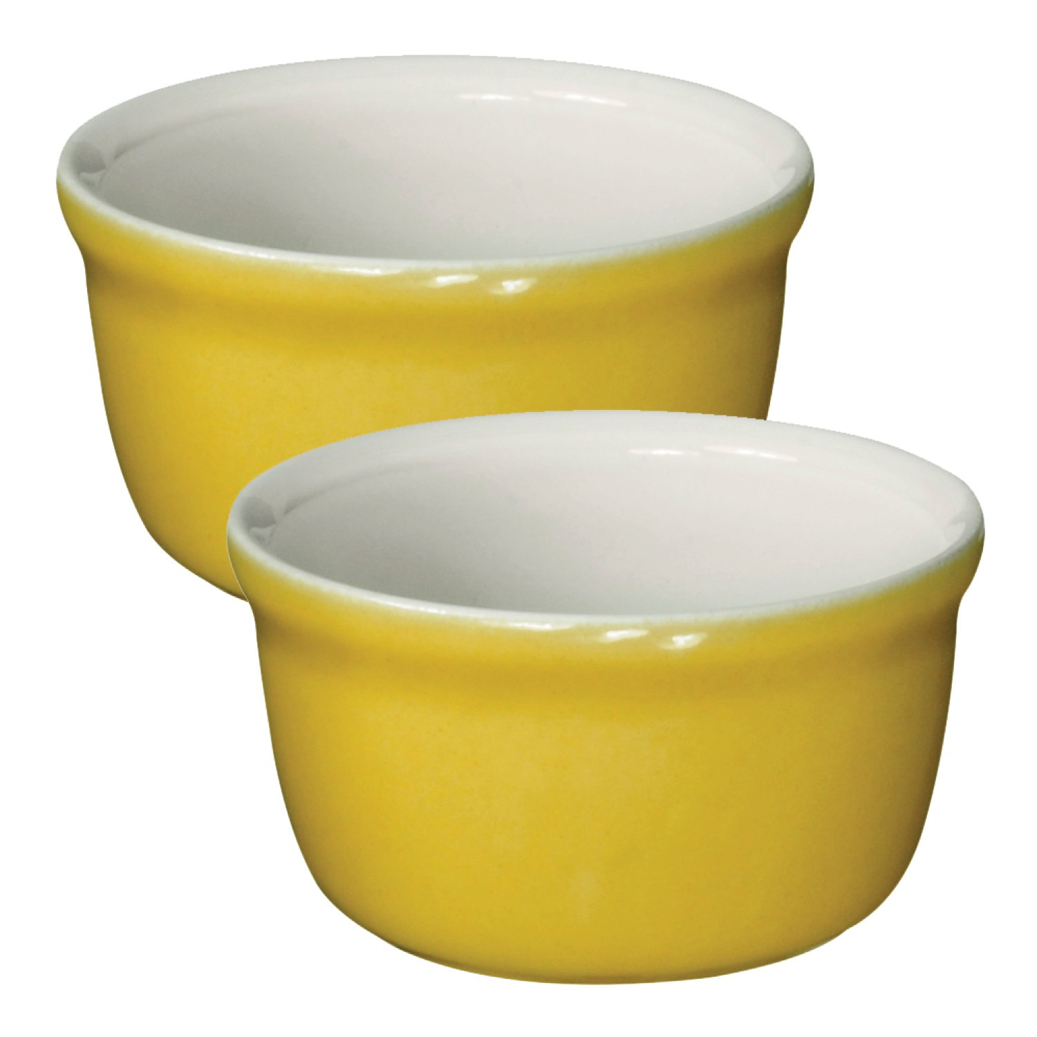 Emile Henry Made In France HR Modern Classics 2 Set Ramekin, Yellow