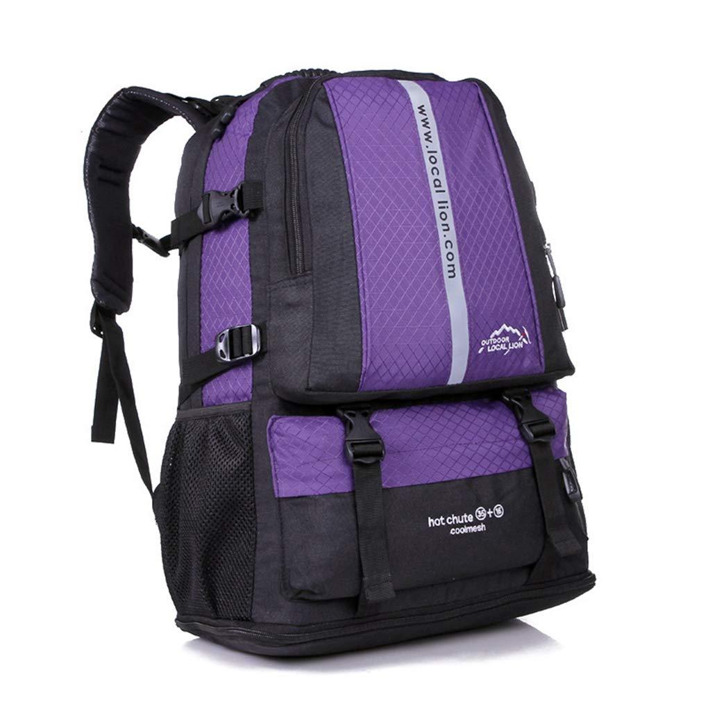 Purple KKONION Large Capacity Hiking Backpack Heavy Duty Trekking Rucksack Bag Tactical Military Bag