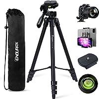 Endurax Camera Tripod 152cm (60 Inch) Compatible with Canon Nikon, Lightweight Phone Tripod with Remote Shutter…